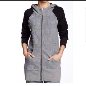 Pink Lotus Raglan zip up  hoodie jacket